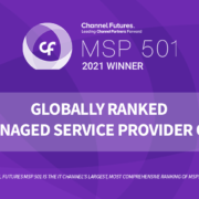 Our official badge from Channel Futures announcing Guardian Computer has a 2021 MSP 501 winner.